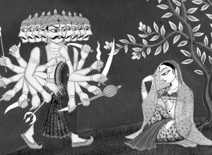 Sita and Ravana