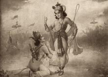 Sri Krishna and Arjuna