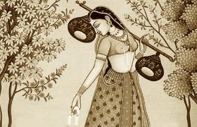 Painiing of Hindustani Classical Musician