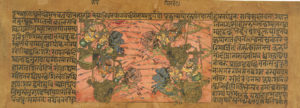 A battle scene from the Mahabharata