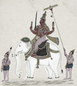 Indra, the symbol for kshaatra