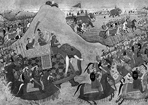Rama going into battle