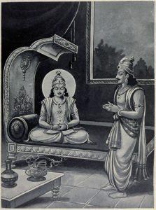 Yudhistira and Krishna