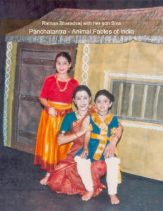 Photo caption: Ramaa with her son Siva & student Nikita