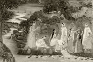 Sri Krishna with Gopis. Image Courtesy: Google Image Search